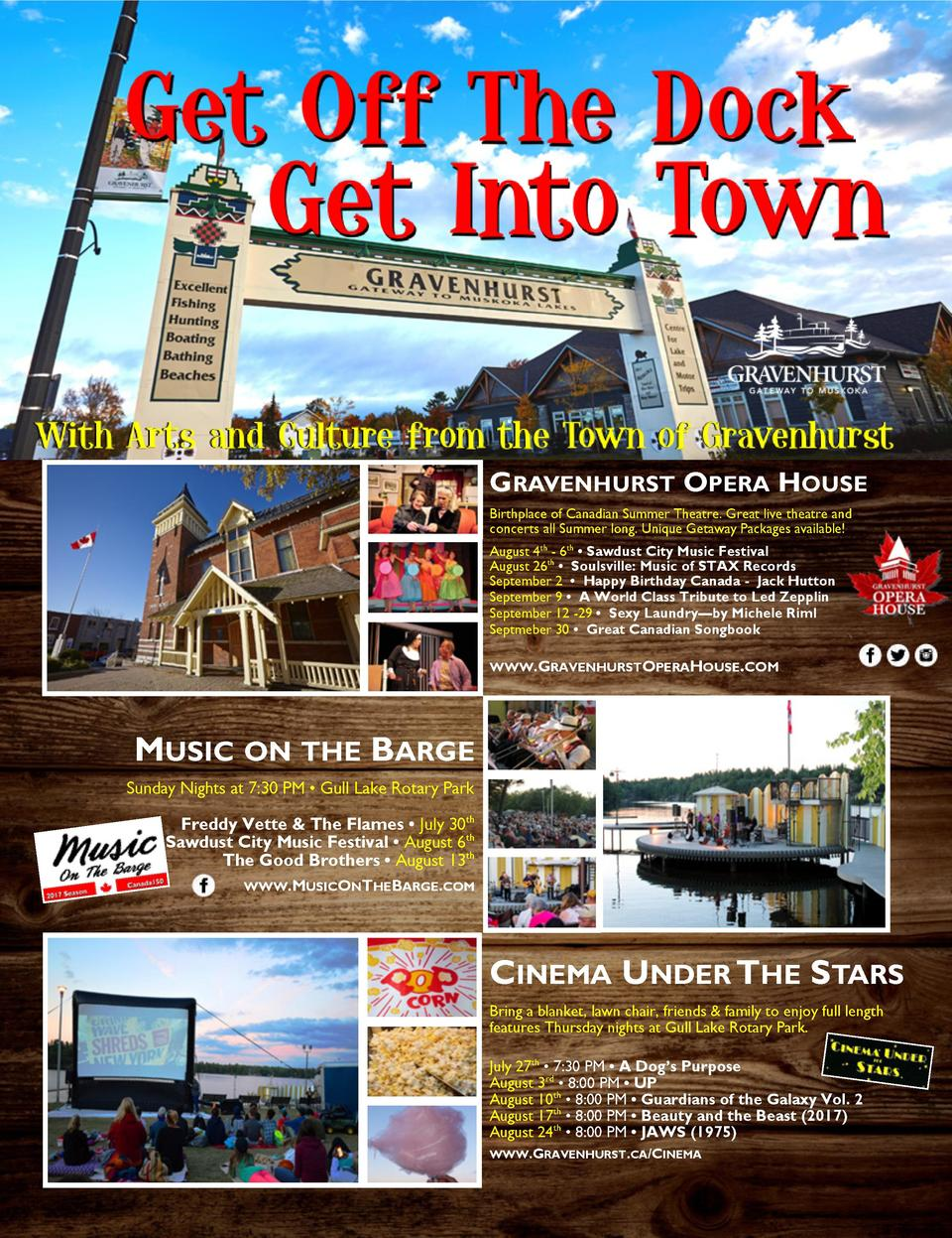 Town of Gravenhurst  GRAVENHURST OPERA HOUSE Birthplace of Canadian Summer Theatre. Great live theatre and concerts all Su...