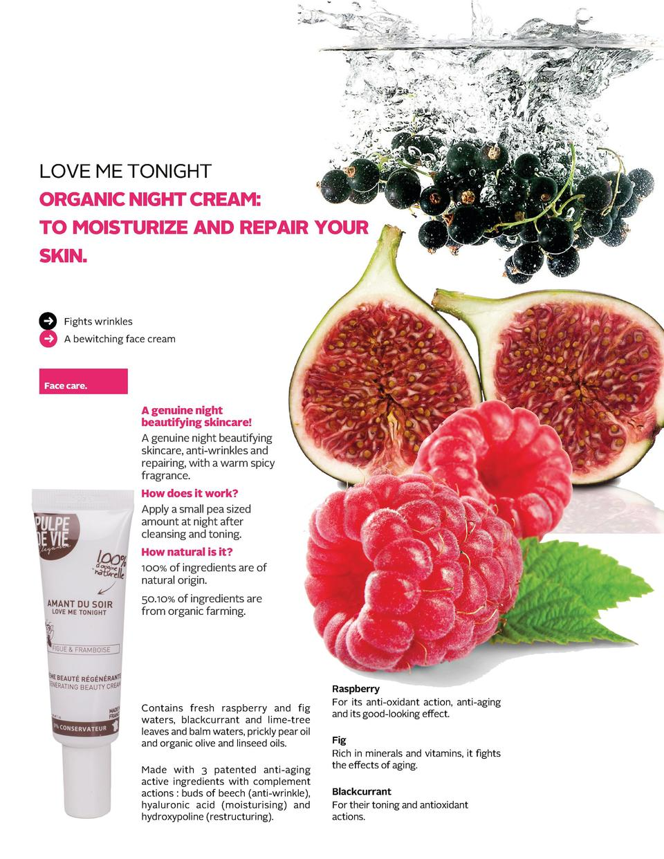 LOVE ME TONIGHT ORGANIC NIGHT CREAM  TO MOISTURIZE AND REPAIR YOUR SKIN. Fights wrinkles A bewitching face cream ...