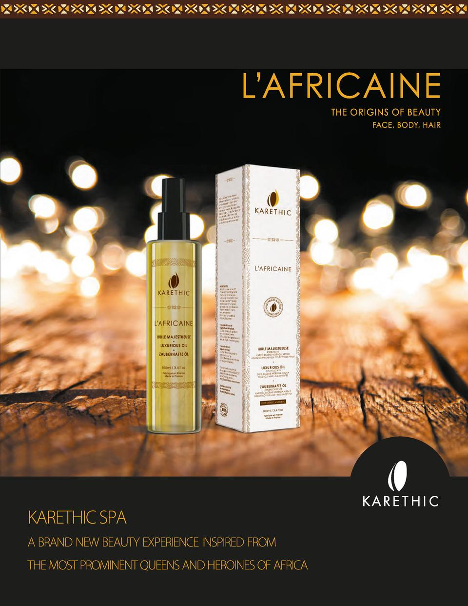 KARETHIC SPA a brand new beauty experience inspired from the most prominent queens and heroines of africa