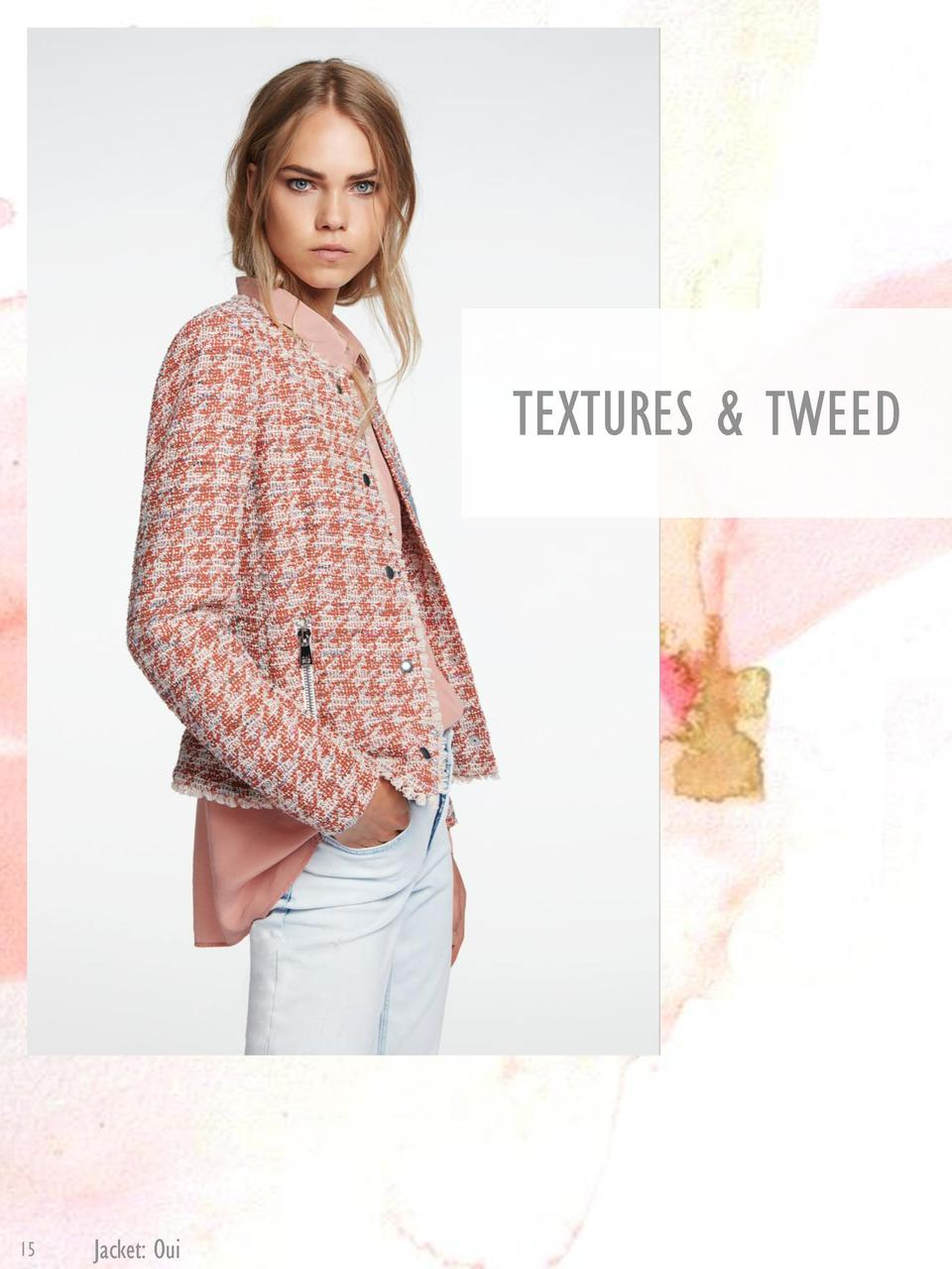 TEXTURES   TWEED  15  Jacket  Oui