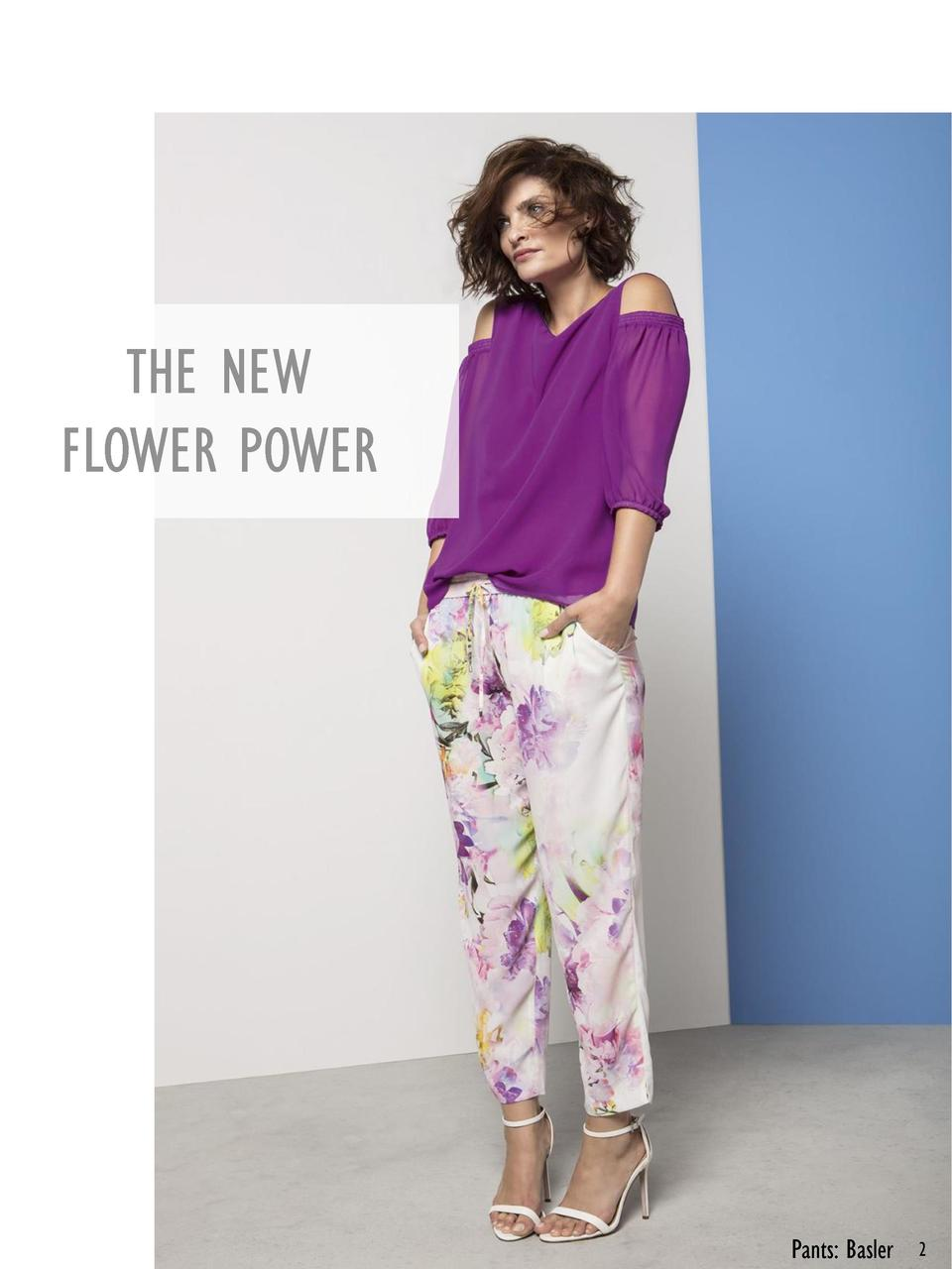 THE NEW FLOWER POWER  Pants  Basler  2