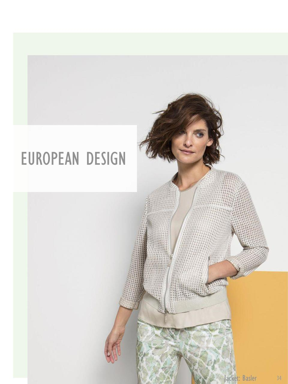 EUROPEAN DESIGN  Jacket  Basler  34