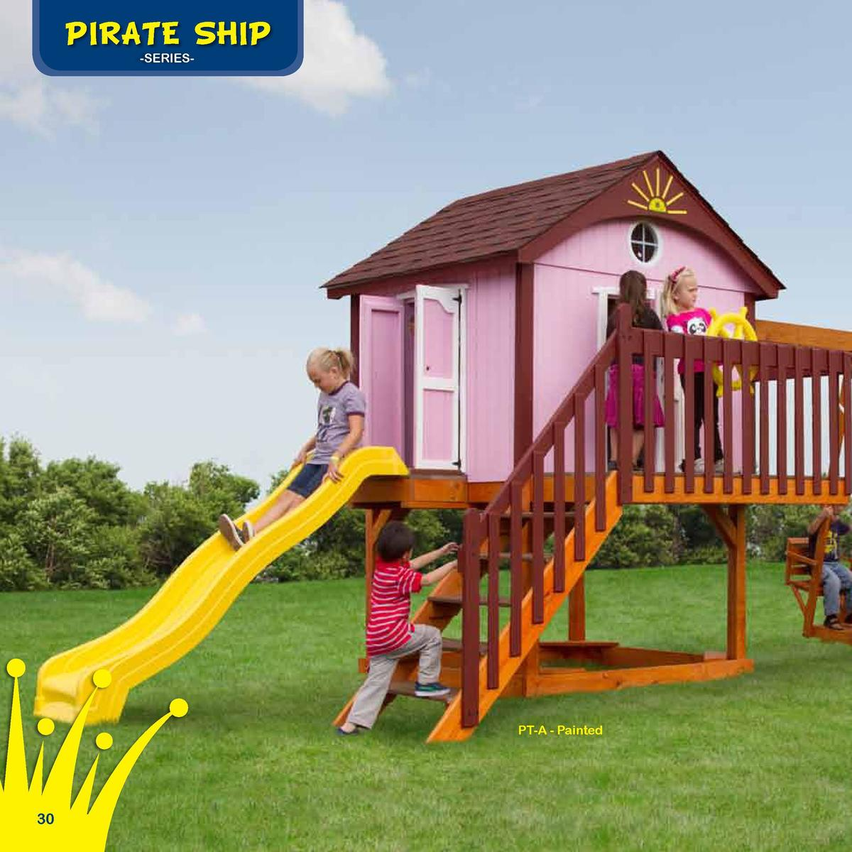 Playhouse Roofing  PIRATE SHIP  The Island Hideout  -SERIESAsphalt  Border Needed   Space Needed 100  Rubber Mulch Needed ...