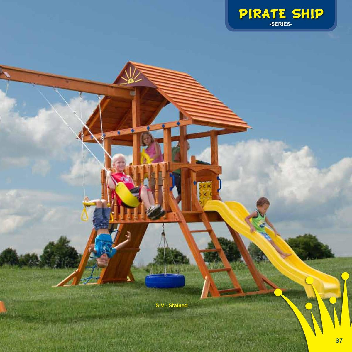 Play Deck Roofing Choices  PIRATE SHIP  The Storm Rider  -SERIESFabric  Plastic  Clap Board  Border Needed   88   Rubber M...