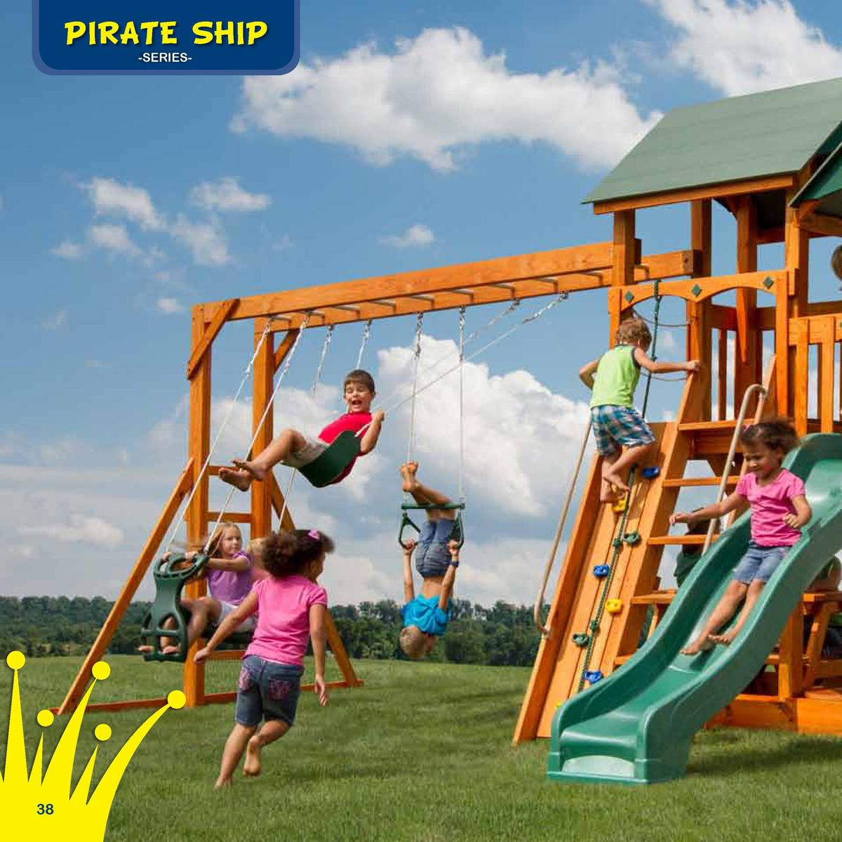 Play Deck Roofing Choices  PIRATE SHIP  The Safe Harbor  -SERIESFabric  Plastic  Clap Board  Border Needed   86 Space Need...