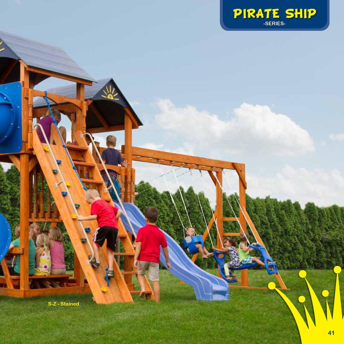 Play Deck Roofing Choices  The Captain   s Castle  PIRATE SHIP -SERIES-  Fabric  Plastic  Clap Board  Border Needed   96  ...