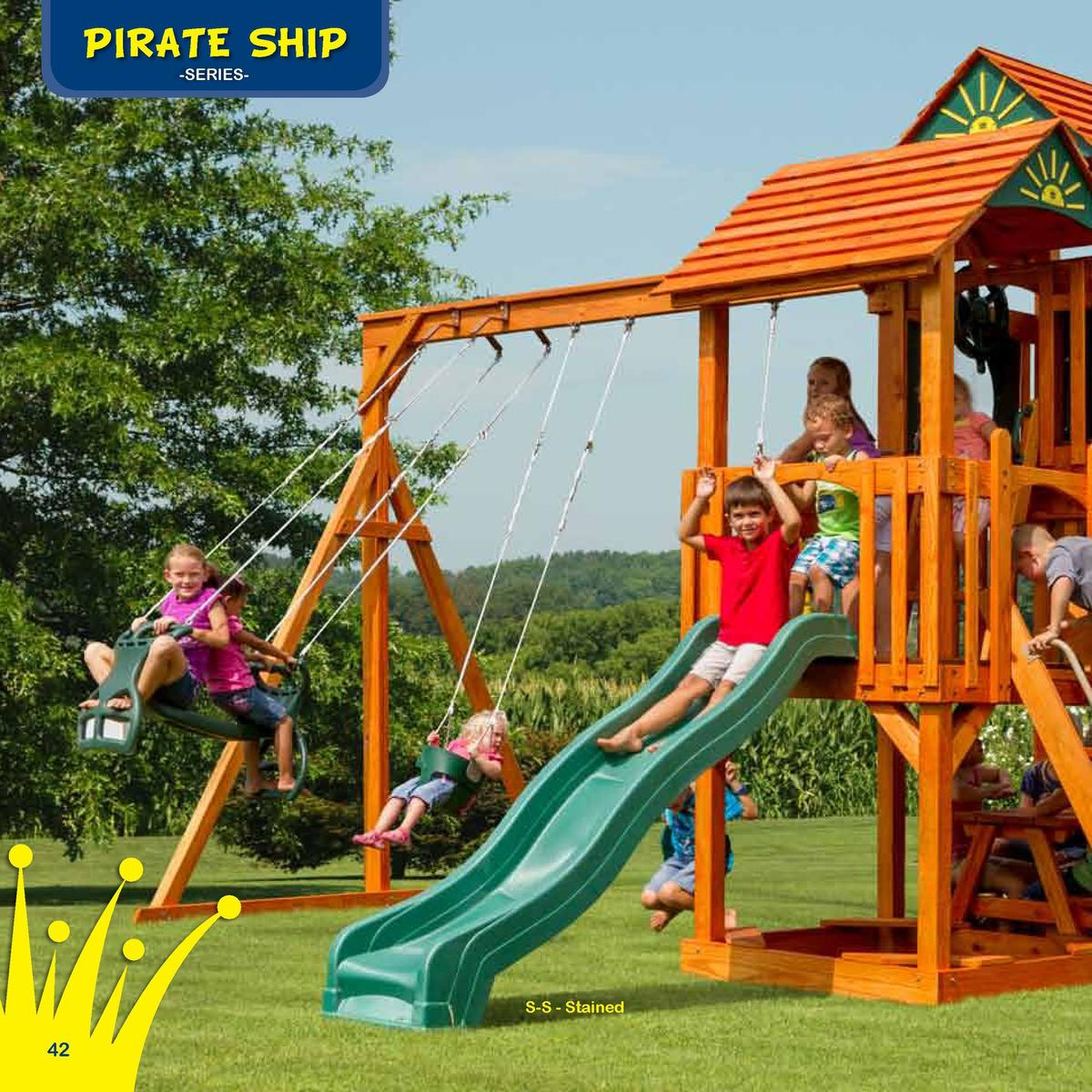 Play Deck Roofing Choices  PIRATE SHIP  The Wave Dancer  -SERIESFabric  Plastic  Clap Board  Border Needed   96 Space Need...