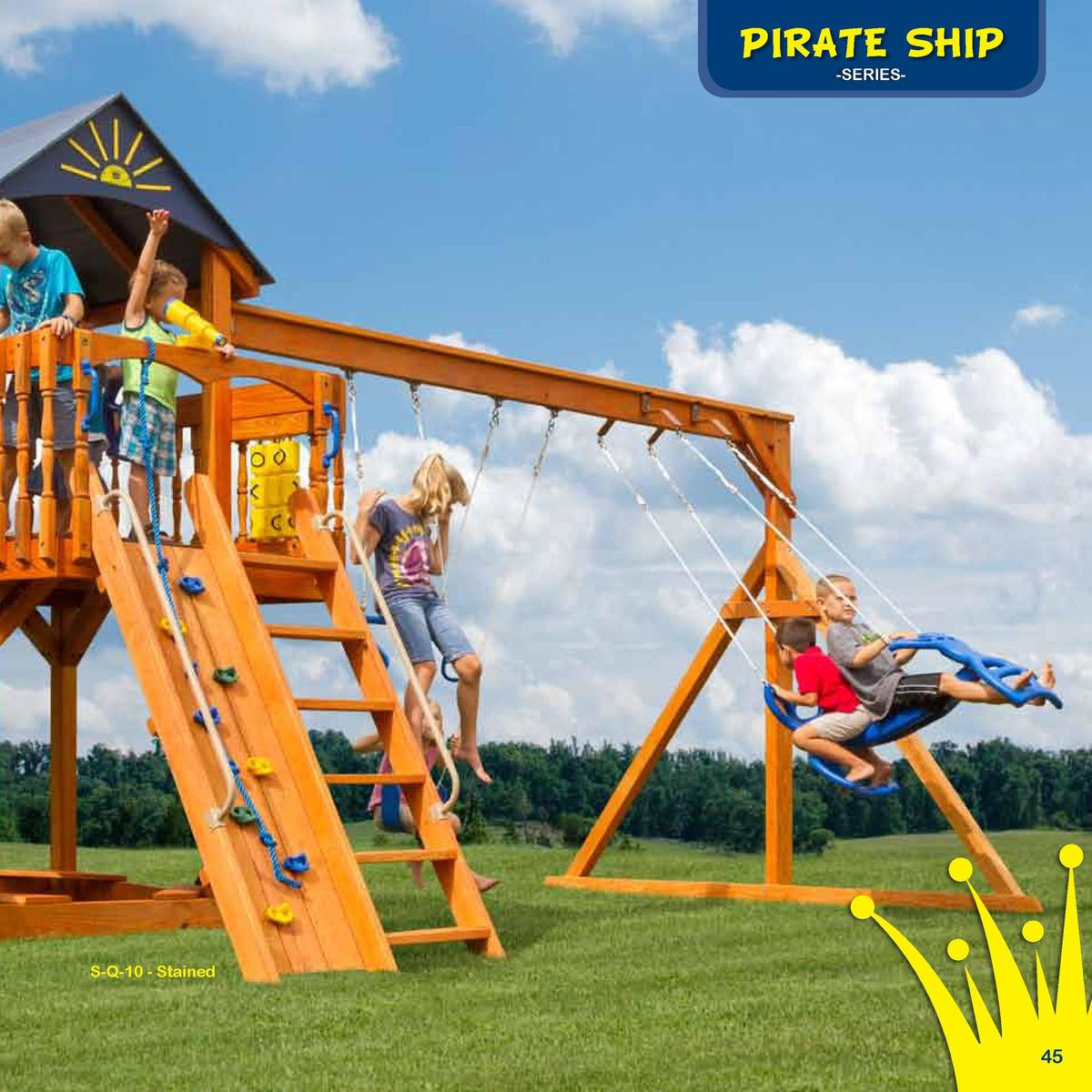 Play Deck Roofing Choices  The Starboard Escape  PIRATE SHIP -SERIES-  Fabric  Plastic  Clap Board  Border Needed   86   R...