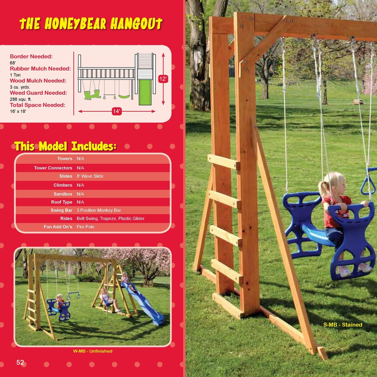 TEDDY BEAR SERIES  The Honeybear Hangout  -SERIES-  Border Needed   68   Rubber Mulch Needed   1 Ton  12   Wood Mulch Need...