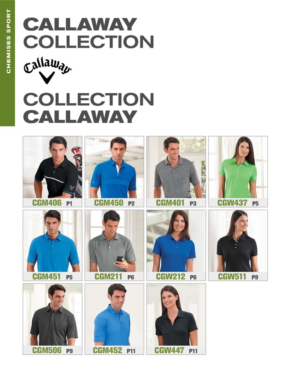 CHEMISES sport  callaway collection collection callaway  CGM406  P1  CGM450  P2  CGM401  P3  CGW437  P5  CGM451  P5  CGM21...