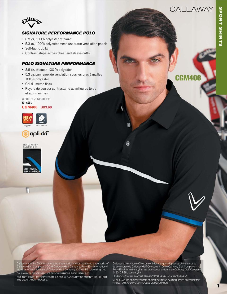 SIGNATURE PERFORMANCE POLO                      8.8-oz, 100  polyester ottoman 5.3-oz, 100  polyester mesh underarm ventil...