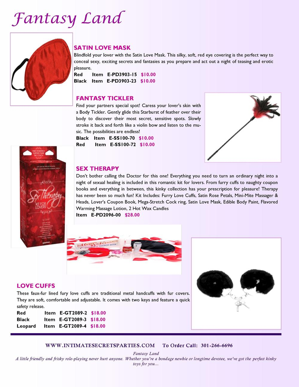 Fantasy Land SATIN LOVE MASK Blindfold your lover with the Satin Love Mask. This silky, soft, red eye covering is the perf...