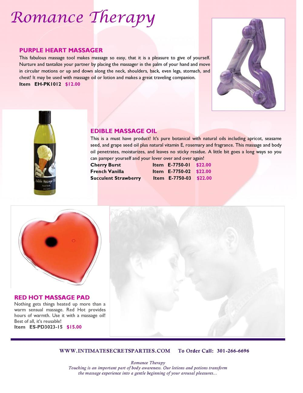 Romance Therapy PURPLE HEART MASSAGER This fabulous massage tool makes massage so easy, that it is a pleasure to give of y...
