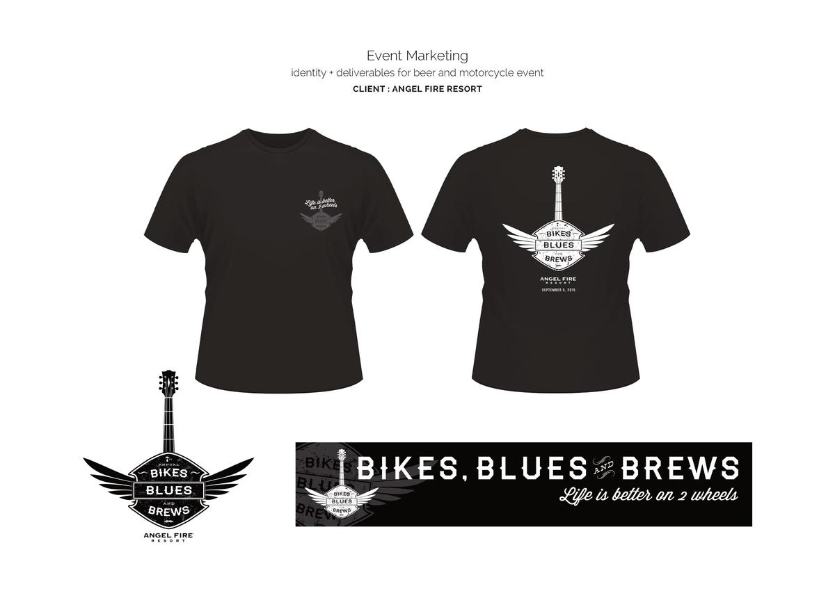 Event Marketing identity   deliverables for beer and motorcycle event CLIENT   ANGEL FIRE RESORT