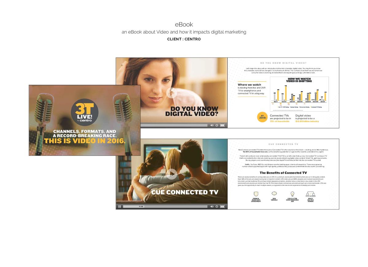 eBook an eBook about Video and how it impacts digital marketing CLIENT   CENTRO  DO YOU KNOW DIGITAL VIDEO  Let   s begin ...