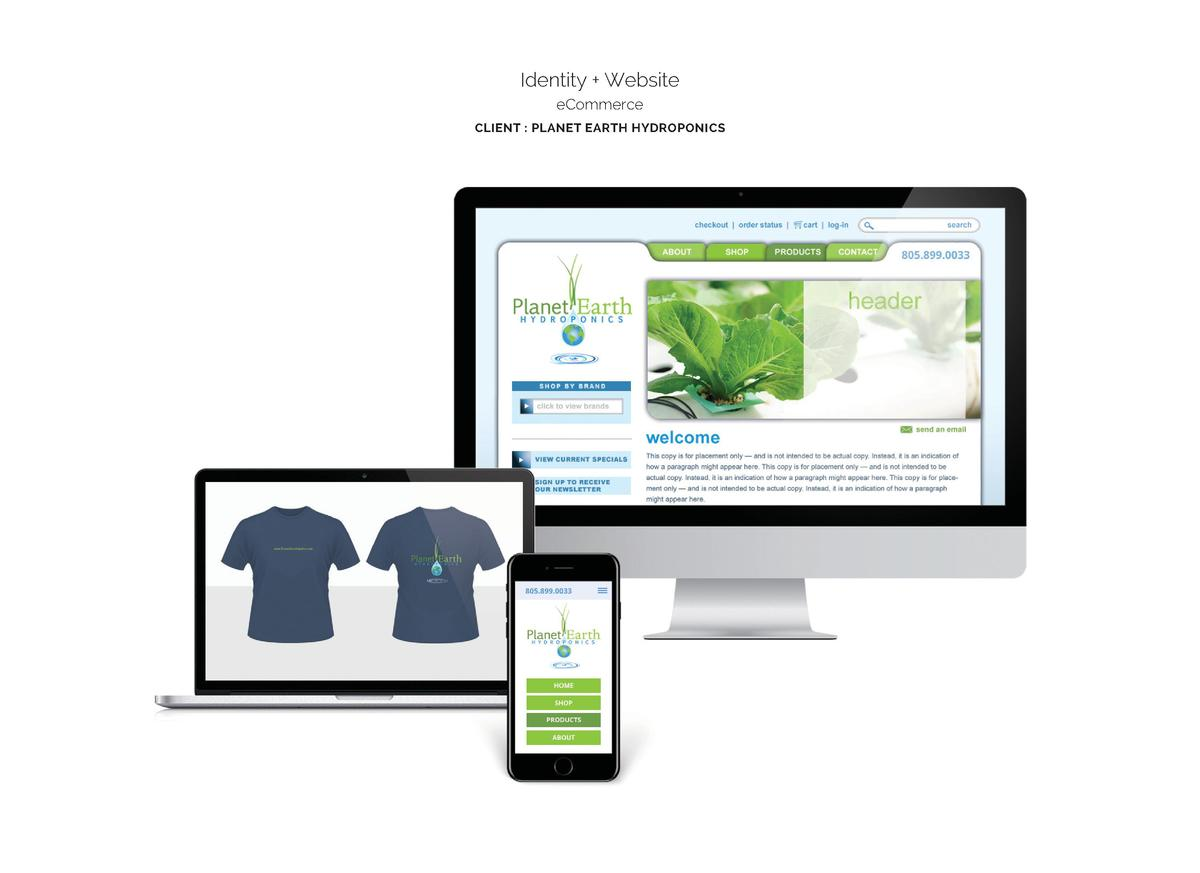 Identity   Website eCommerce CLIENT   PLANET EARTH HYDROPONICS