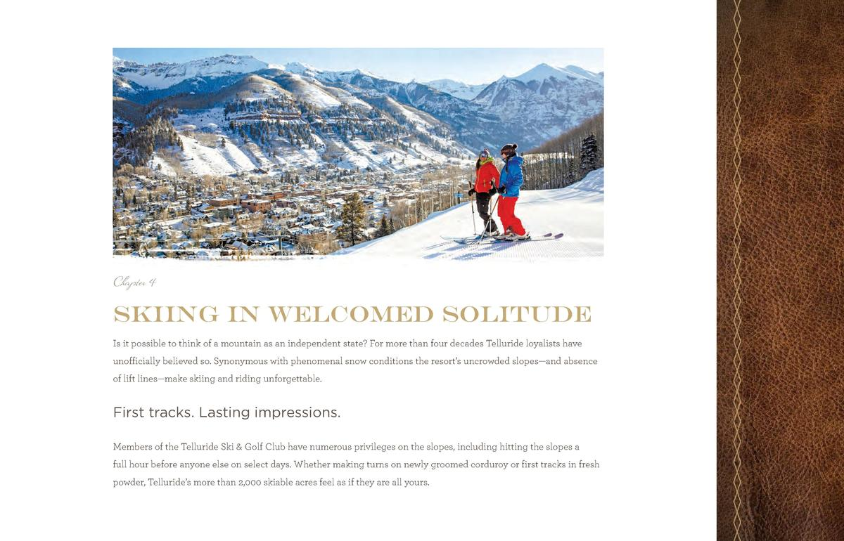 TSGC_Br_Pages_final.qxp_TSGCbr2014_new size 6 11 14 11 45 AM Page 12  Chapter 4  skiing in welcomed solitude Is it possibl...
