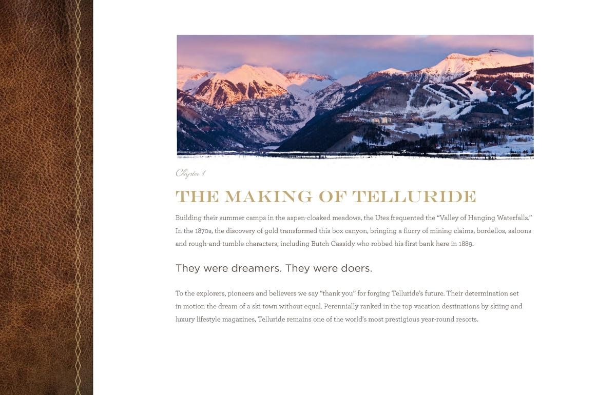 TSGC_Br_Pages_final.qxp_TSGCbr2014_new size 6 11 14 11 44 AM Page 5  Chapter 1  The Making of Telluride Building their sum...