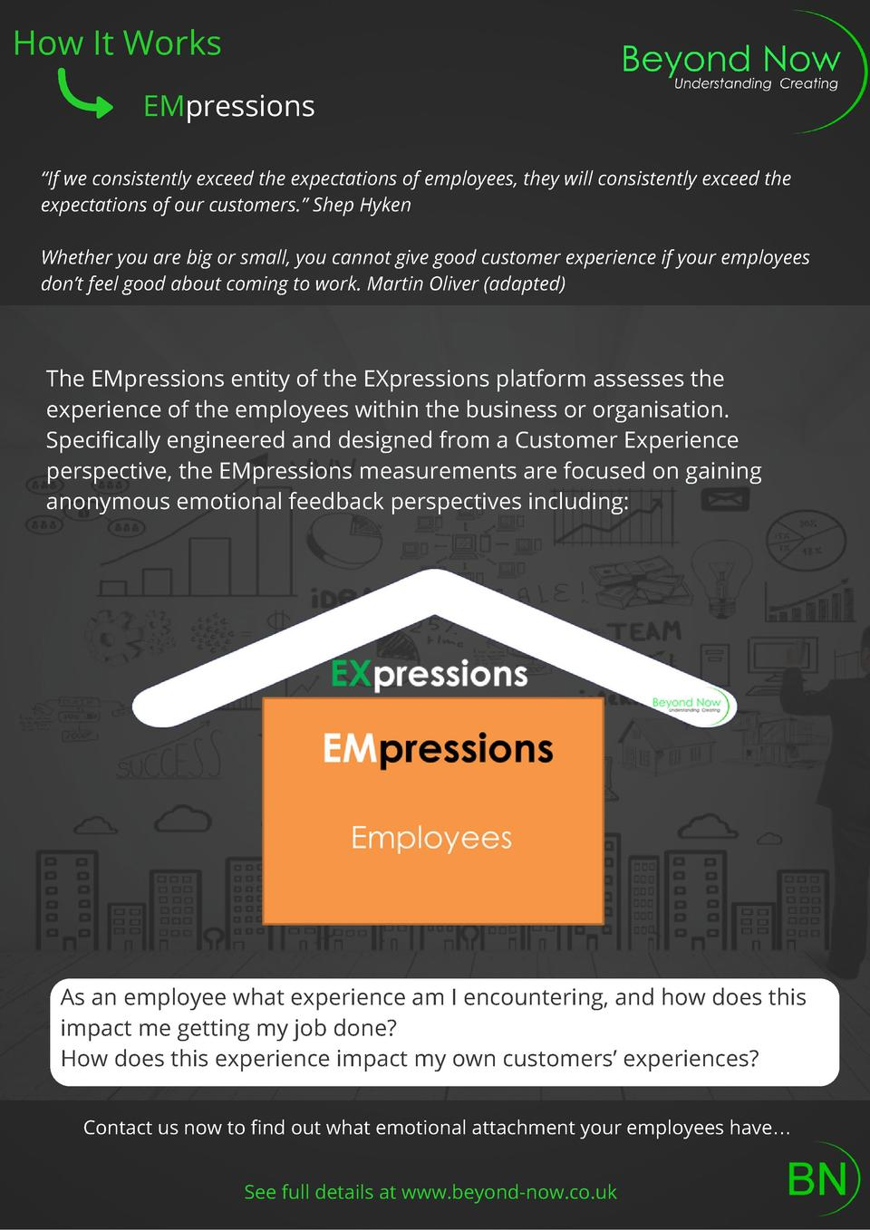 How It Works EMpressions    If we consistently exceed the expectations of employees, they will consistently exceed the exp...