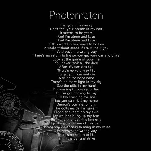 Photomaton Forget Who We Are As the light begins to fade We don   t look back on yesterday We   re on fire in our minds No...
