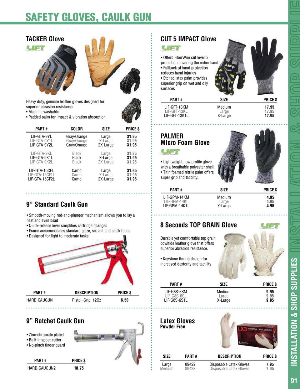 1, L Nitrile Foam coated CUT5-SP Cut-Resistant Safety Gloves Work Gloves for Plumbing Mechanical construction Multi-Purpose