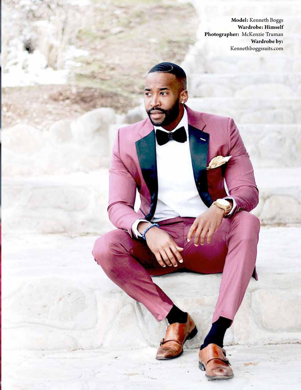 Model  Kenneth Boggs Wardrobe  Himself Photographer  McKenzie Truman Wardrobe by  Kennethboggssuits.com