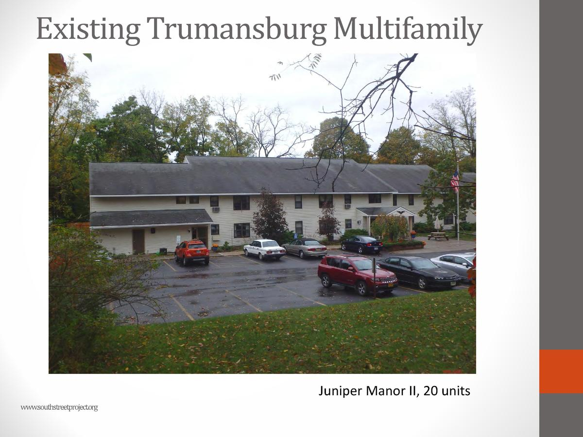 Existing Trumansburg Multifamily  Juniper Manor II, 20 units www.southstreetproject.org