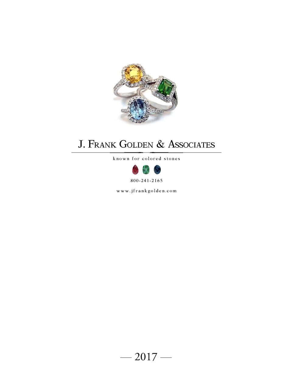 J Frank Golden 2017 Catalog Natural Orange Citrine 13ct Associates Known For Colored Stones