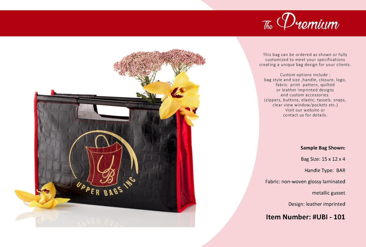 The  Premium  This bag can be ordered as shown or fully customized to meet your specifications creating a unique bag desig...