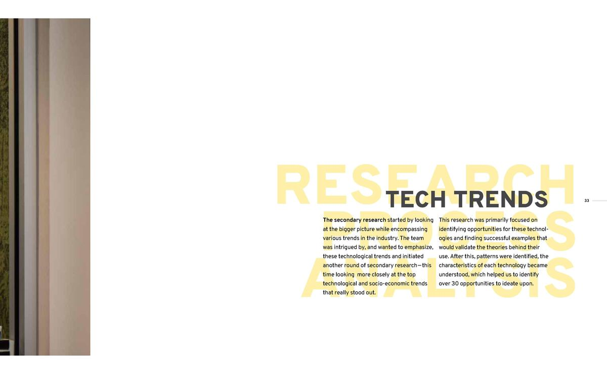 What is currently in the market and what do consumers want   RESEARCH TECH TRENDS PROCESS ANALYSIS The secondary research ...
