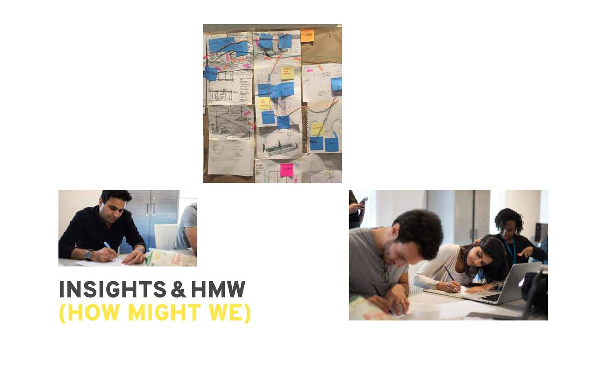 67  INSIGHTS       HMW  HOW MIGHT WE   From the affinitization and insight  We    question, we were able to open up  clust...