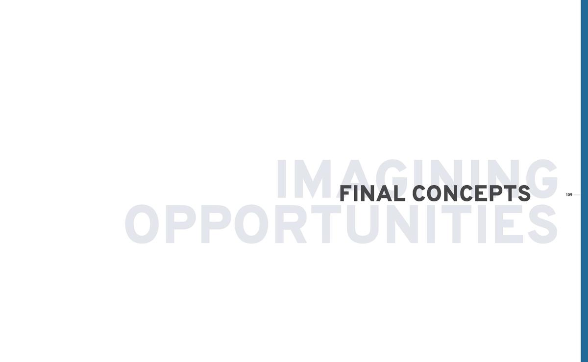 IMAGINING FINAL CONCEPTS OPPORTUNITIES  109