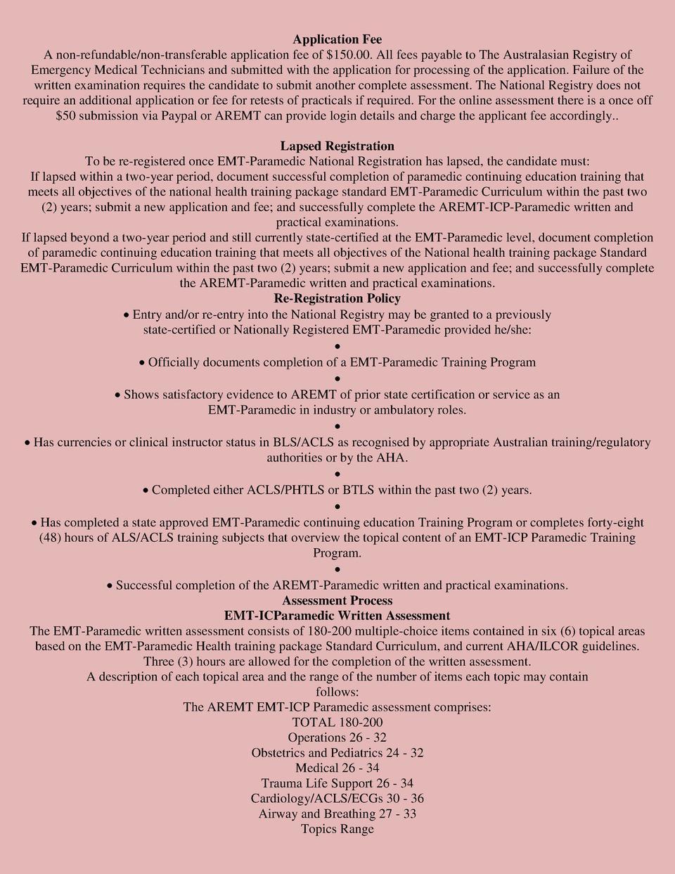 Intensive Care Paramedic Criteri Simplebooklet