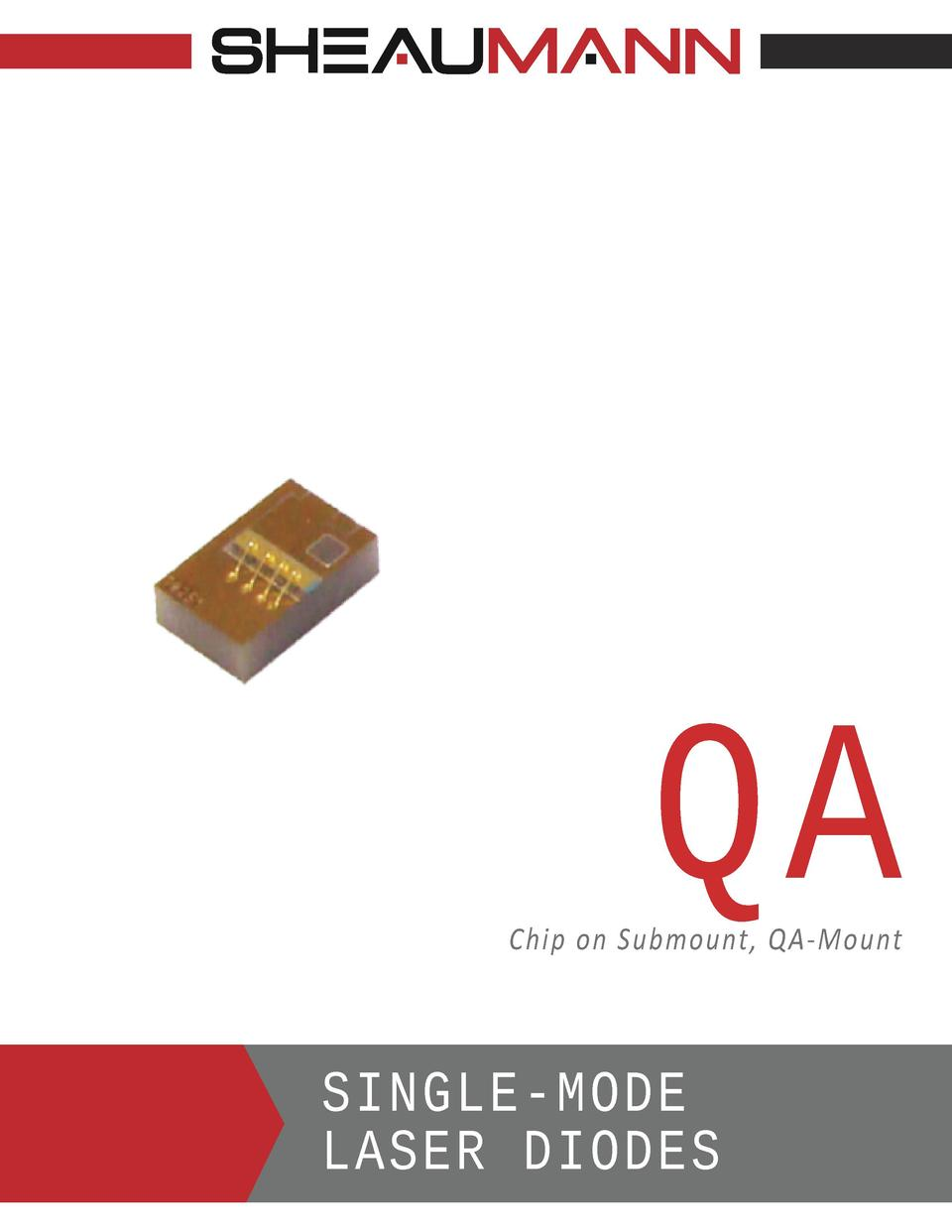 QA  Chip on Submount, QA-Mount  SINGLE-MODE LASER DIODES