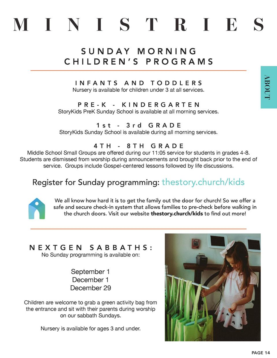 N E X T  G E N  Hello TSH Families   Programming for middle school students is available during our 11 05 service, and we ...