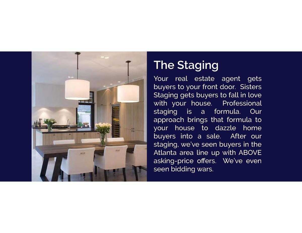 The Staging Your real estate agent gets buyers to your front door. Sisters Staging gets buyers to fall in love with your h...