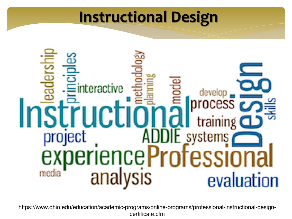 Instructional Design  https   www.ohio.edu education academic-programs online-programs professional-instructional-designce...