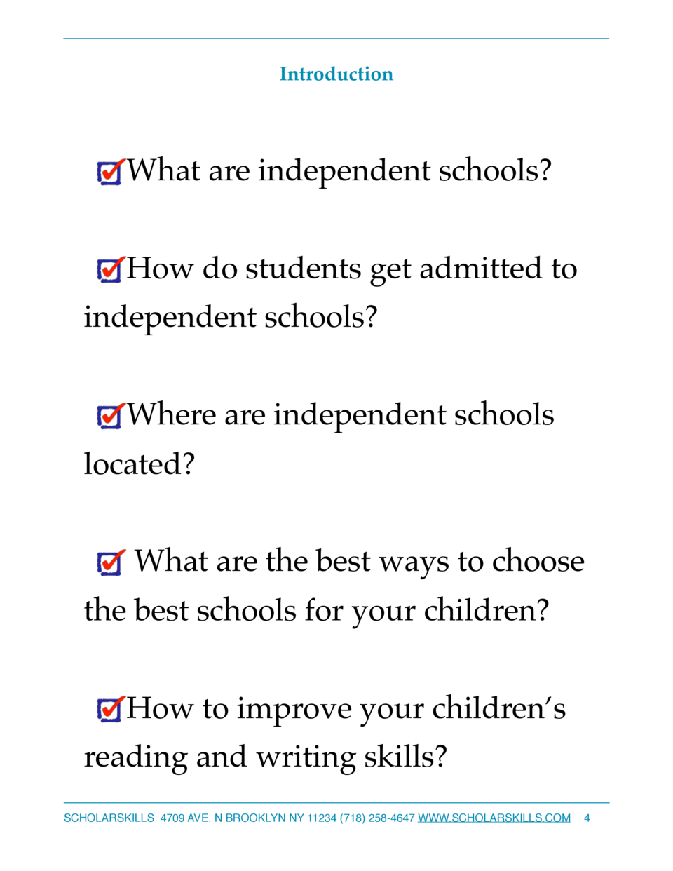 Introduction  What are independent schools  How do students get admitted to independent schools  Where are independent sch...