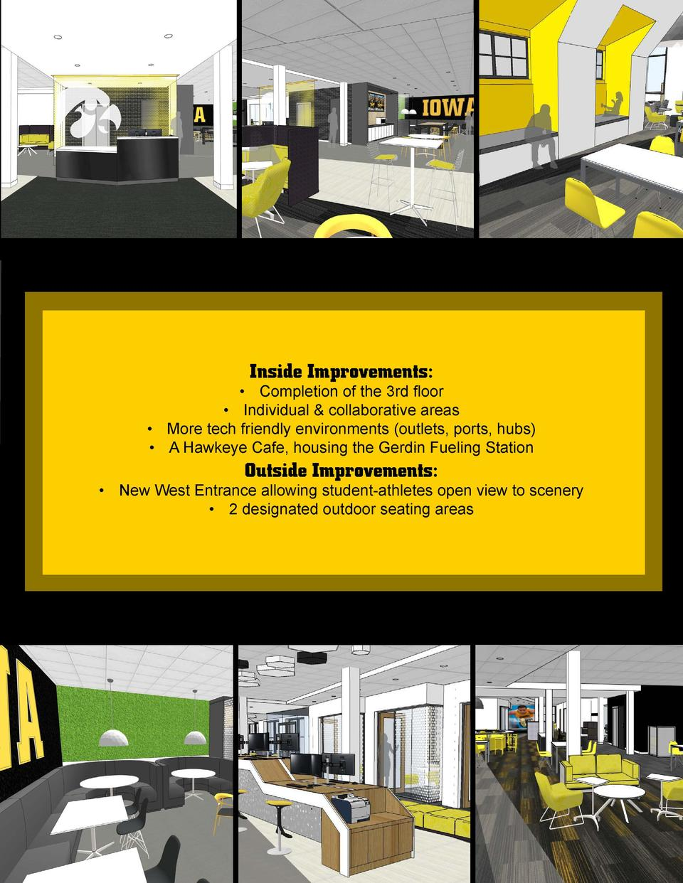 Inside Improvements        Completion of the 3rd floor      Individual   collaborative areas      More tech friendly envir...