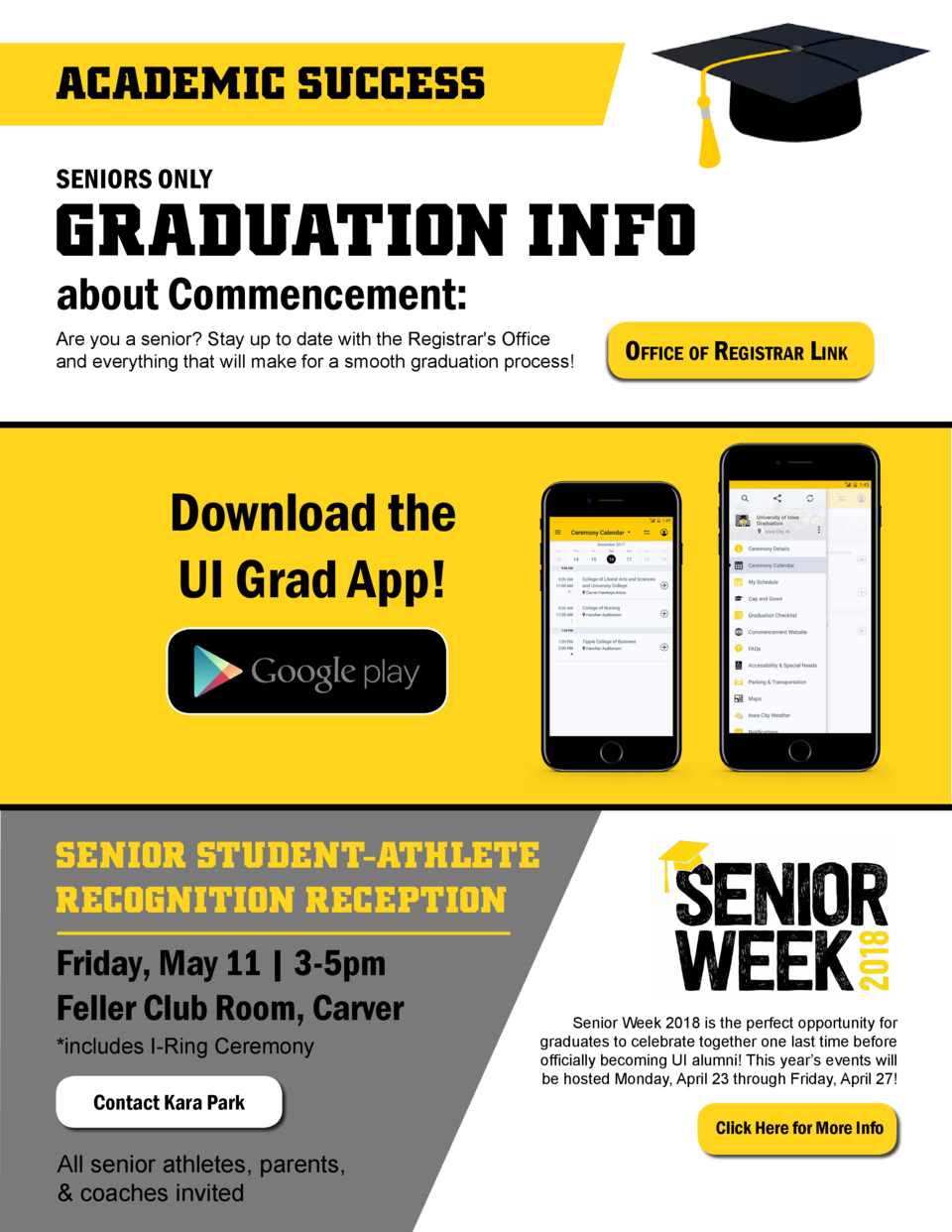 ACADEMIC SUCCESS SENIORS ONLY  GRADUATION INFO about Commencement   Are you a senior  Stay up to date with the Registrar s...