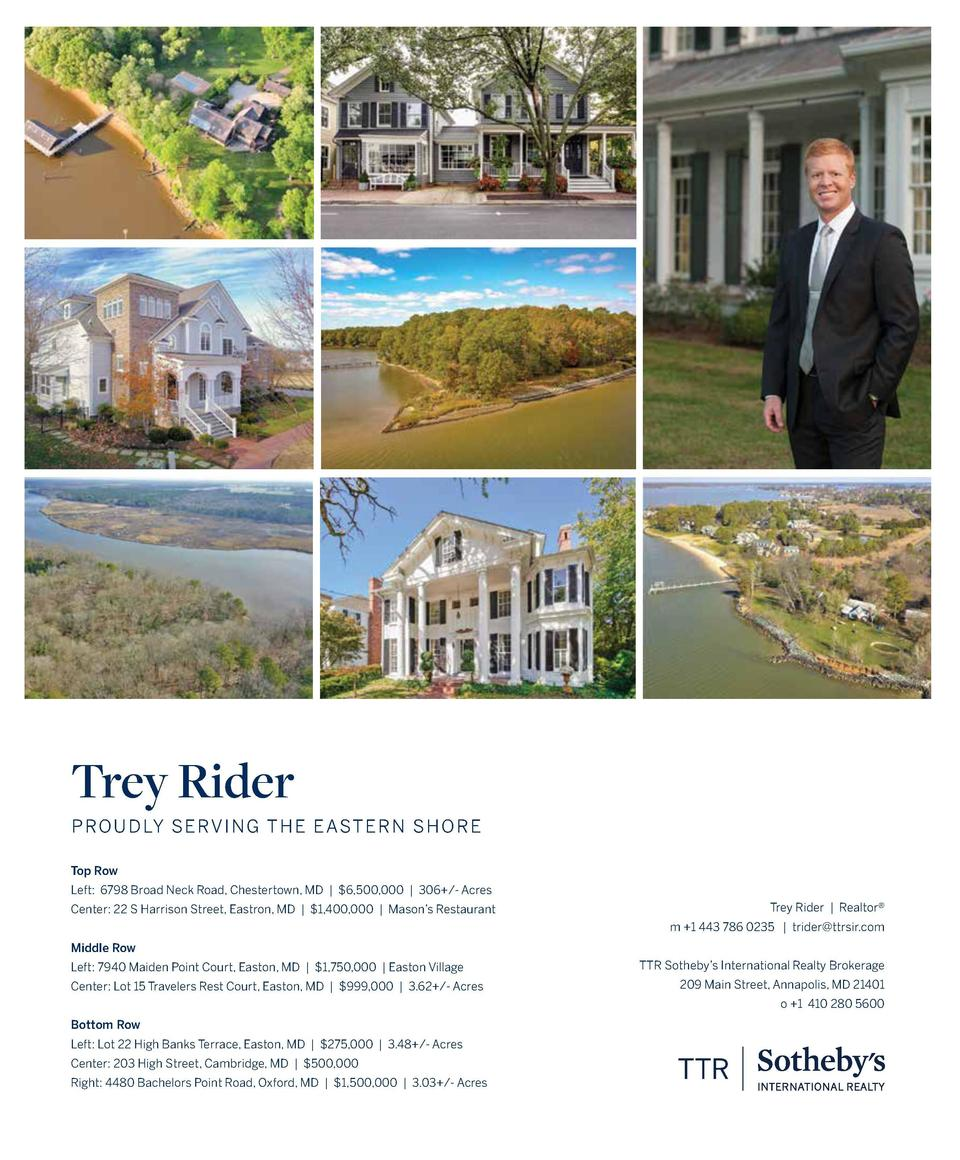 Proudly Serving the Eastern Shore 1120 Cheston Lane Queenstown, MD    3,595,000 Brand new custom contemporary coastal esta...