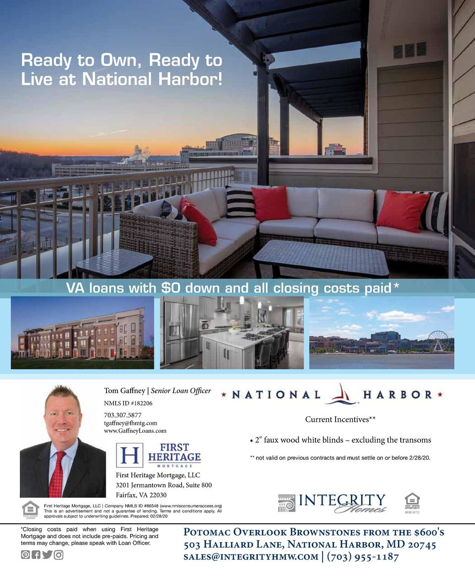 Ready to Own, Ready to Live at National Harbor   VA loans with  0 down and all closing costs paid   Tom Gaffney   Senior L...