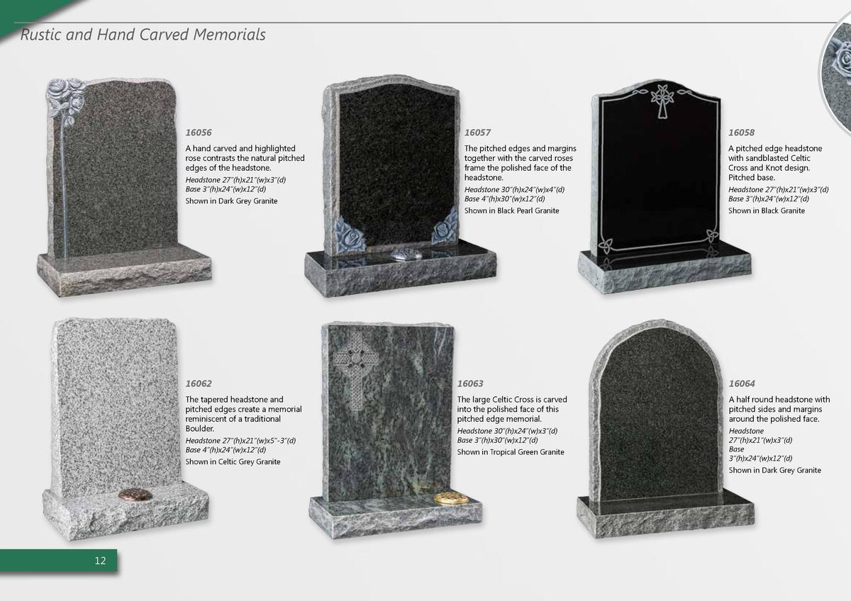 Rustic and Hand Carved Memorials  16056  16057  16058  A hand carved and highlighted rose contrasts the natural pitched ed...
