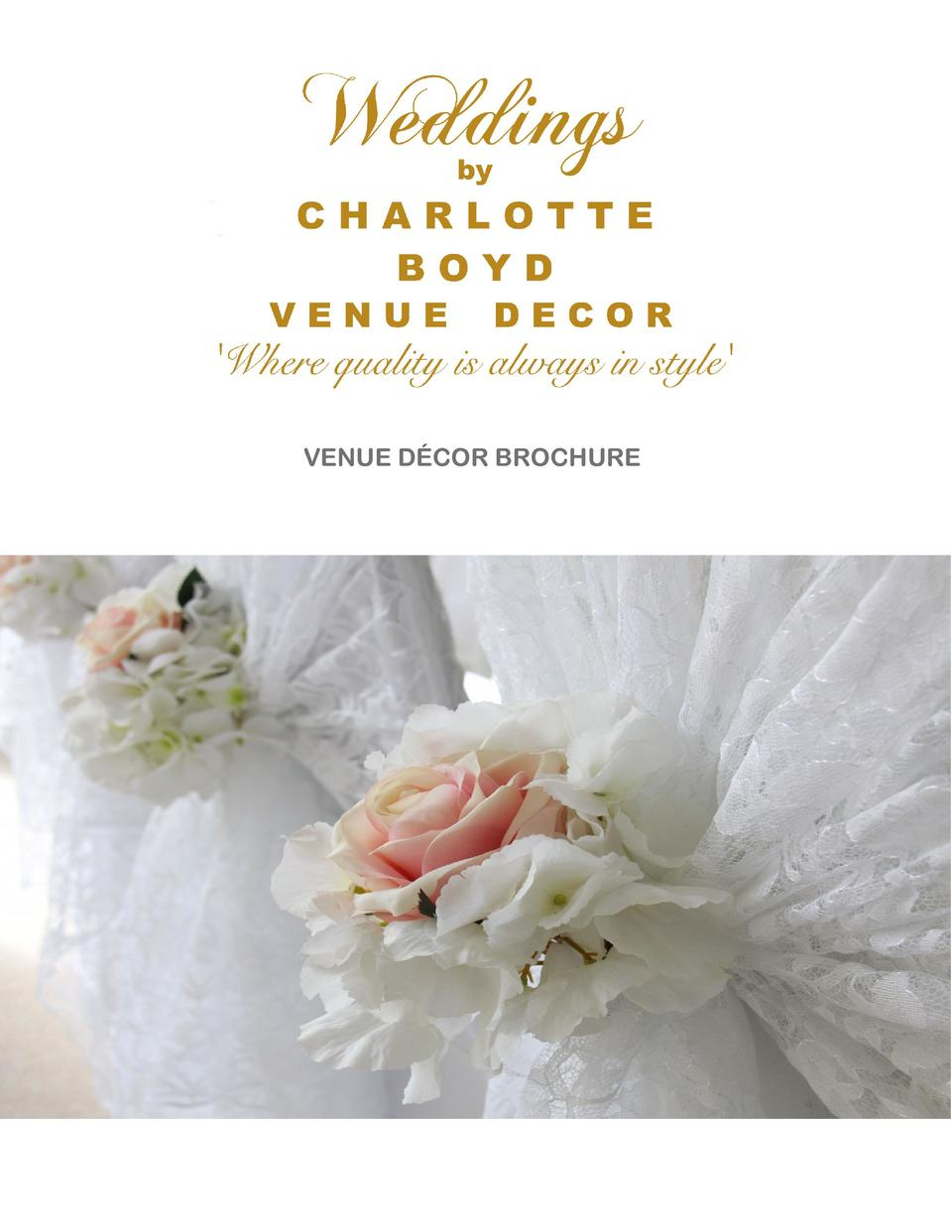VENUE D  COR BROCHURE