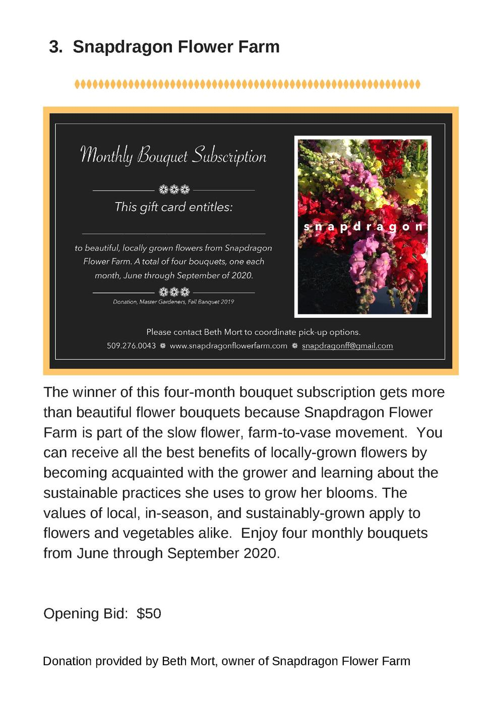 3. Snapdragon Flower Farm  The winner of this four-month bouquet subscription gets more than beautiful flower bouquets bec...