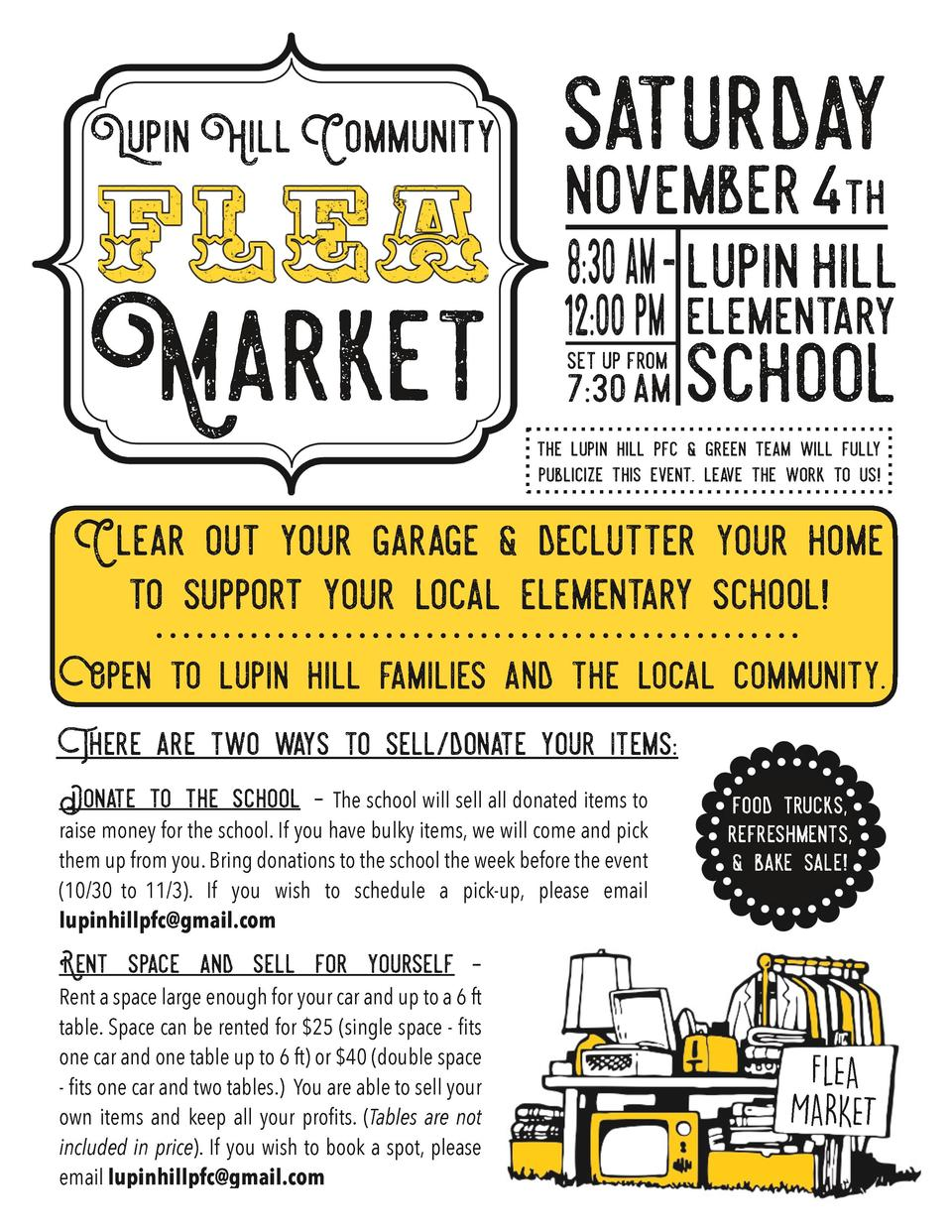 Lupin Hill Community  Market  saturday november 4th  lupin hill  set up from  7 30 am  elementary  school  the lupin hill ...