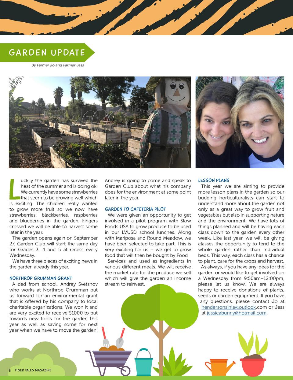 G AR D E N UPDAT E By Farmer Jo and Farmer Jess  FILES FORMAT AI   EPS   SVG  L  uckily the garden has survived the heat o...