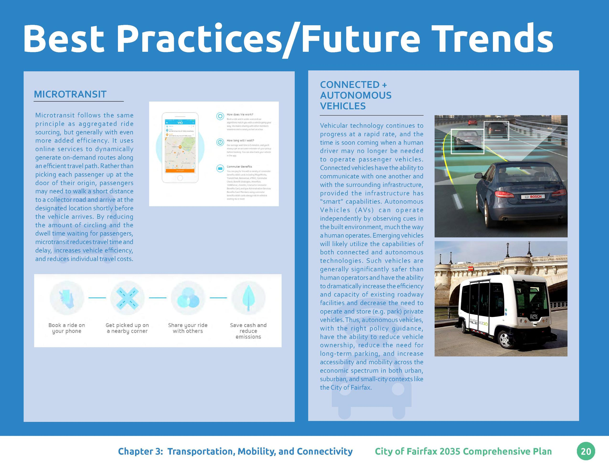 Best Practices Future Trends MICROTRANSIT Microtransit follows the same principle as aggregated ride sourcing, but general...