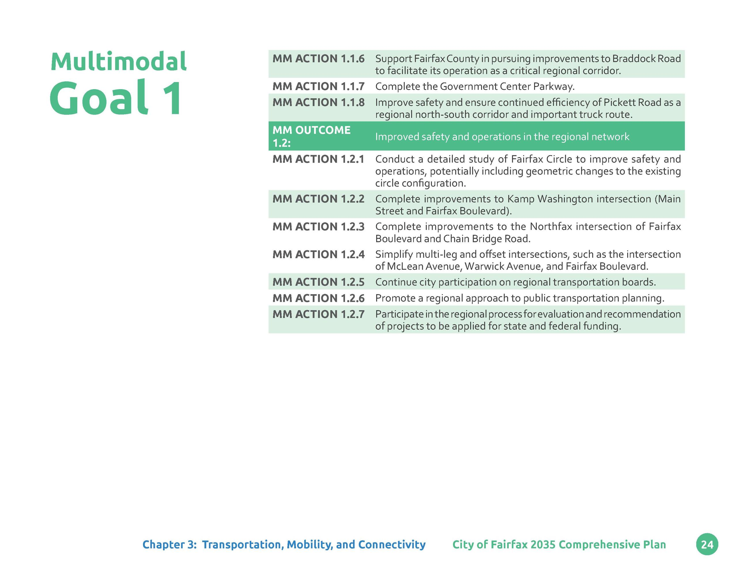 Multimodal  Goal 1        MM ACTION 1.1.6 Support Fairfax County in pursuing improvements to Braddock Road to facilitate i...