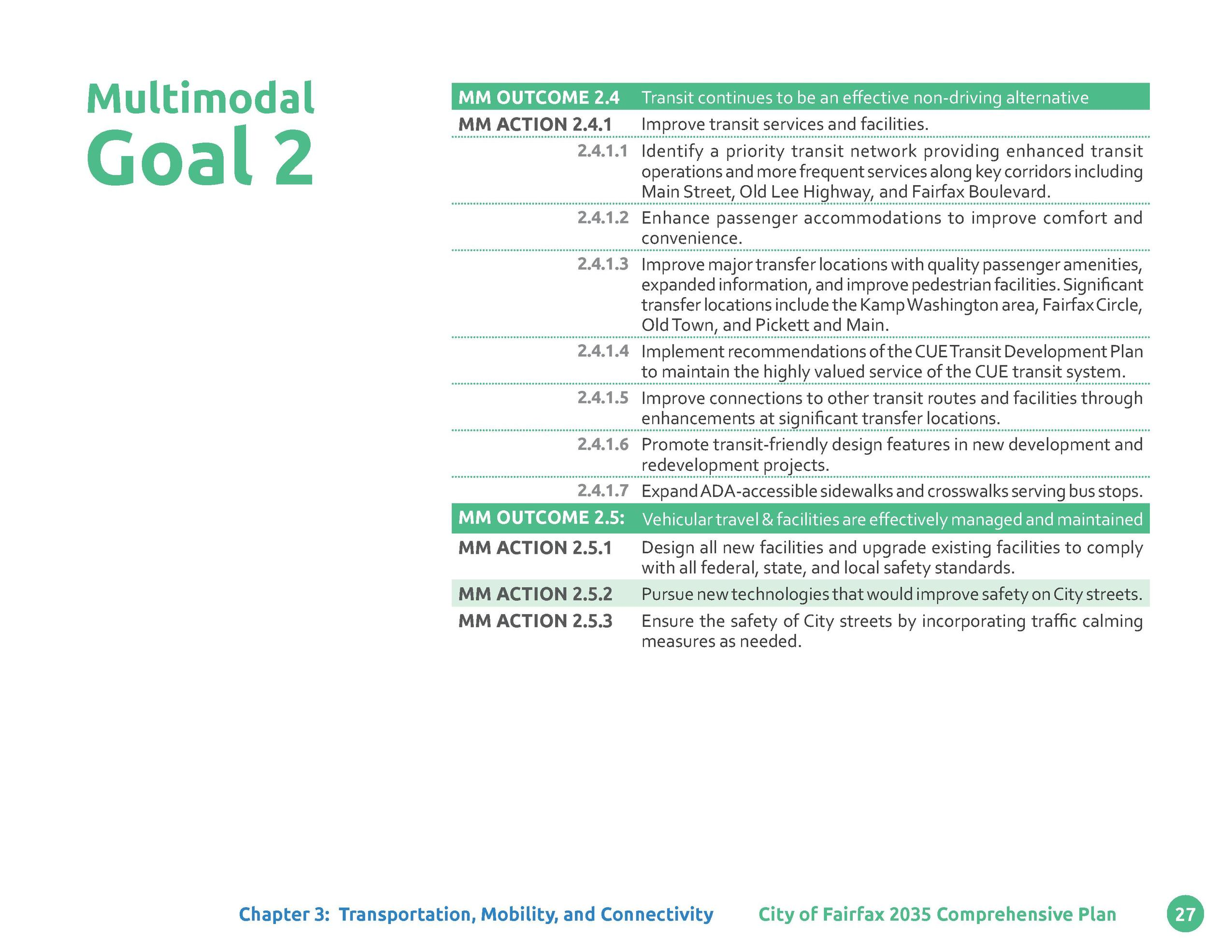 Multimodal  Goal 2  MM OUTCOME 2.4 MM ACTION 2.4.1 2.4.1.1  2.4.1.2 2.4.1.3  2.4.1.4 2.4.1.5 2.4.1.6 2.4.1.7  Transit cont...